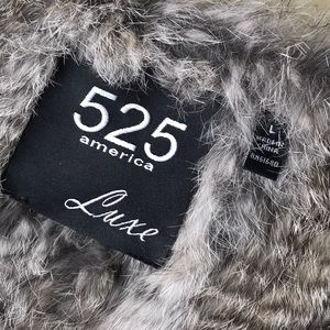 525 America Jackets & Coats - 525 America rabbit fur vest
